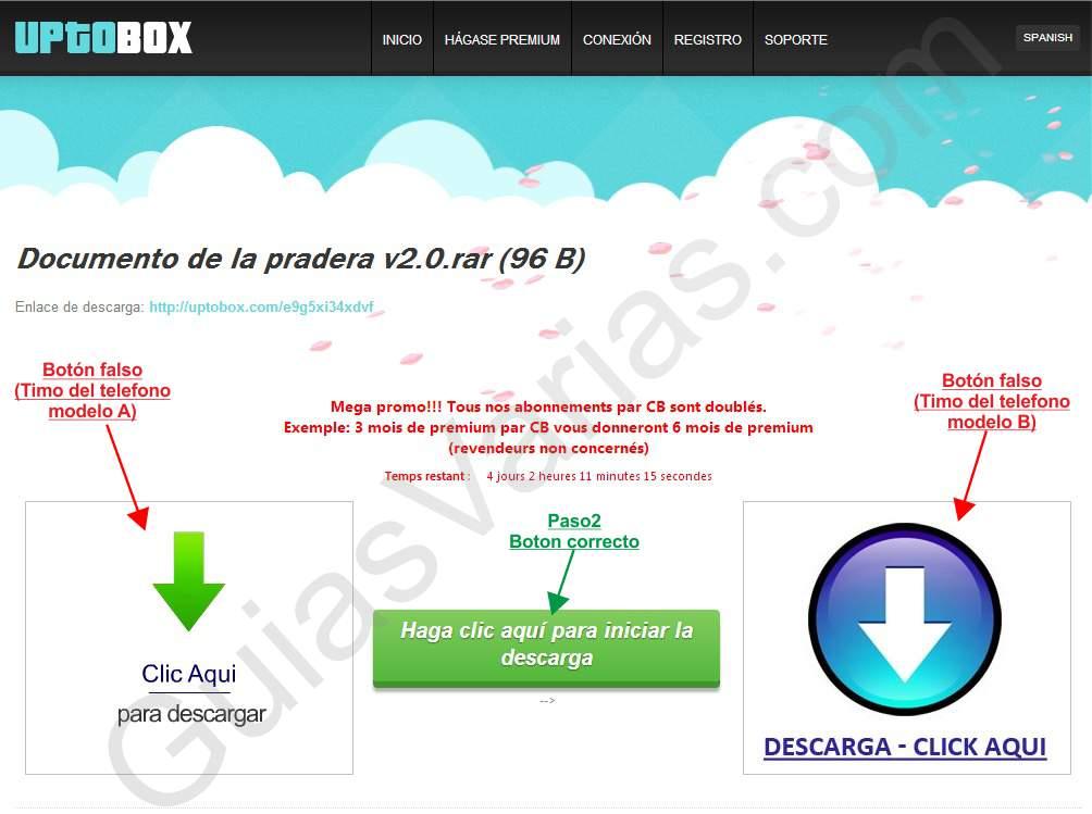 Como descargar de Uptobox correctamente pantallazo 02