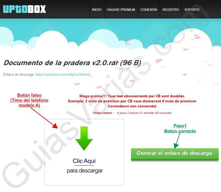 Como descargar de Uptobox correctamente pantallazo 01