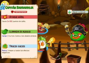 Angry Birds Epic Boss Cueva16 lvl10 Capitan Barbarroja
