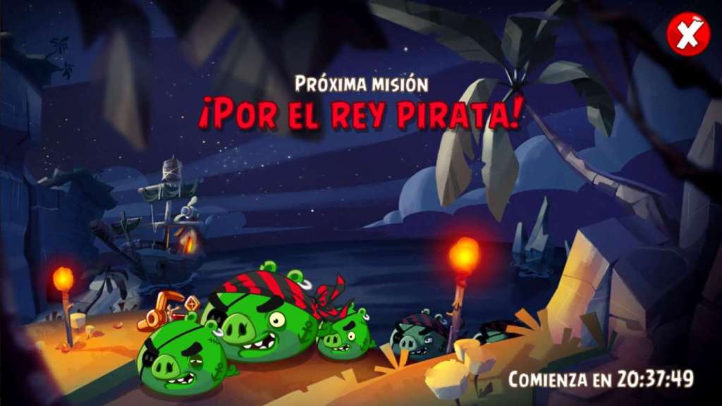 Evento Mision Epica Por el Rey Pirata. Angry Birds Epic parches.