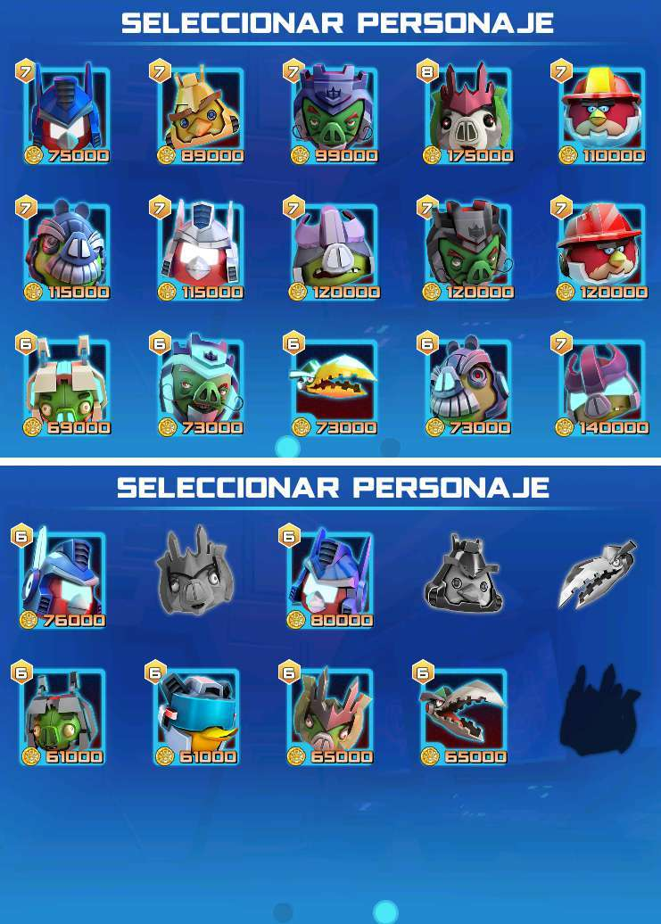 Angry Birds Transformers Personajes Trucos. Stella