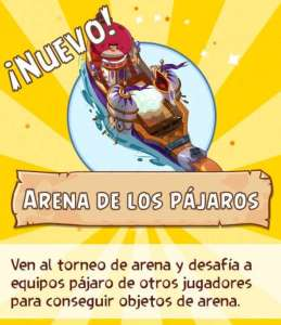 Arena PVP Torneos Angry Birds Epic