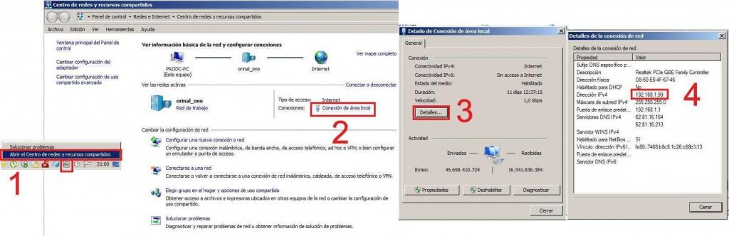 Averiguar IP interna. Abrir puertos emule utorrent router