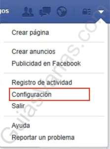 Como bloquear invitaciones de juegos en Facebook pantallazo