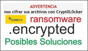 Cryptolocker Virus Correos Solucion eliminar desencriptar