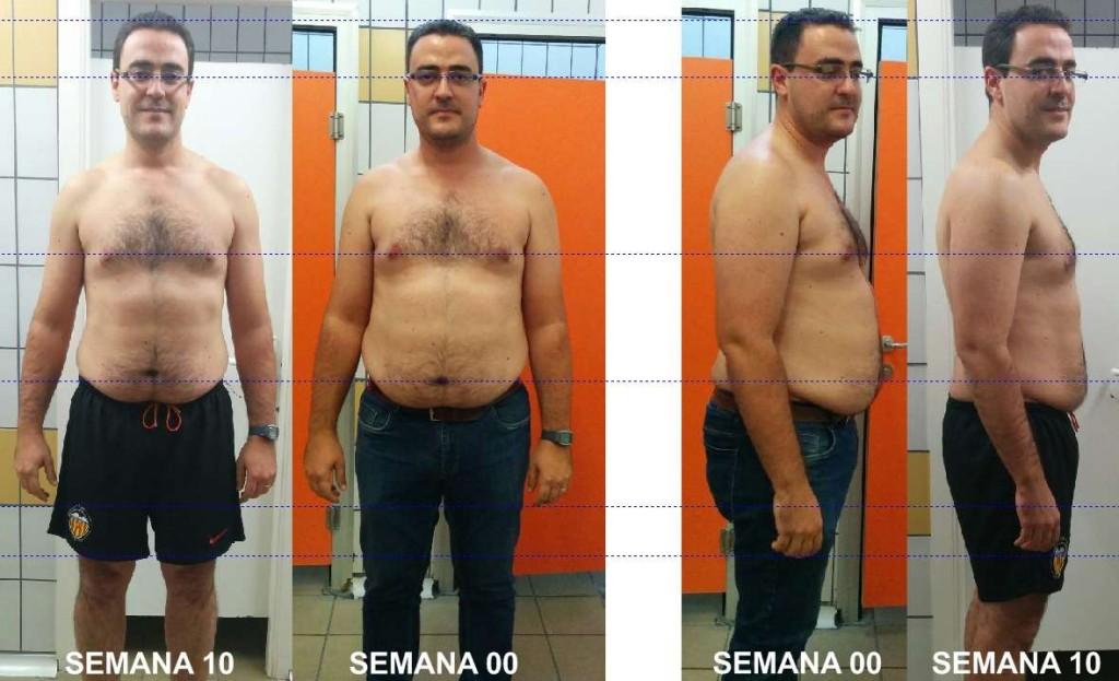 Reto David G. Progresos semana 1-10 fotos Objetivo perder barriga