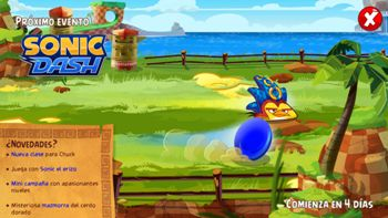 Evento Mision Epica Sonic Dash erizo. Angry Birds Epic parches