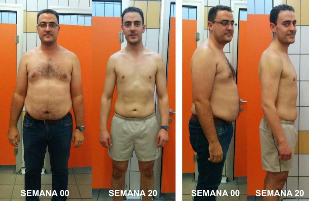 Reto David G. Misión Cumplida en 20 semanas. Objetivo perder 30 kilos