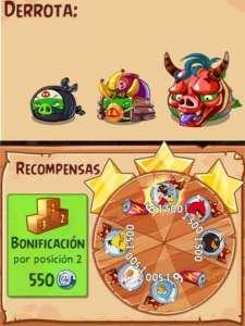 Evento 3 - Angry Birds Epic - Bajo las Nubes de la Noche - Mision epica_enemigos y recompensas