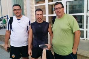Primer dia de entrenamiento Salva O. y David G con el entrenador Victor F. - Reto perder peso